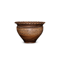Горшок - волна глиняный (макитра) Шляхтянский AA01 Покутская керамика 1 литр