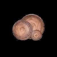 Тарелка глиняная Шляхтянская AE01 Покутская керамика 30 см