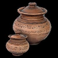 Горшок для запекания глиняный Шляхтянский AC01 Покутская керамика 1 литр