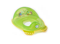 Детская накладка на унитаз антискользящая Aqua AQ-008 Tega Baby, зеленая