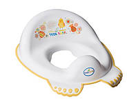 Детская накладка на унитаз антискользящая Folk FL-002 Tega Baby, белая