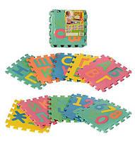 Мягкий коврик-пазл мозайка буквы и цифры М 2736