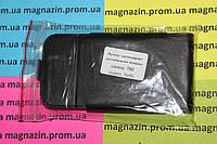 Кожаный чехол книжка для мобильного телефона Lenovo А706 (черный)