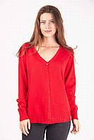 Теплая кашемировая кофта красного цвета, фото 1