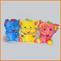 Мягкие игрушки Слоны сидячие 18 см