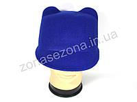 Женская шляпа фетровая жокейка с ушками электрик