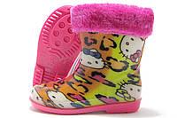 Резиновые сапожки детские Dual розовые Kitty 22-29р.