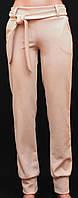 Женские брюки с поясом беж