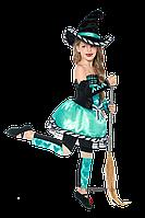 Детский карнавальный костюм для девочки ВЕДЬМОЧКА код 2058