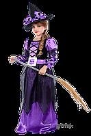 Детский карнавальный костюм для девочки ВЕДЬМОЧКА код 2095