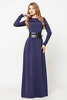 Вечернее платье с кожаным поясом 44,46р.