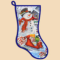 Новогодний сапожок Снеговик СН-2002