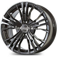Литые диски PDW Cortina R15 W6.5 PCD5x114.3 ET35 DIA67.1 (black machined face)