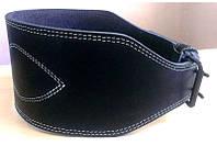 Трехслойный атлетический пояс кожаный S Onhillsport черный