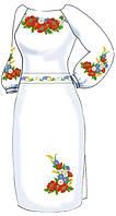 ВПЖ-3. Заготовка для вишивки бісером Жіноче плаття.