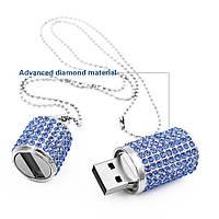 Флешка 4Гб со стразами,голубая, Diamond Crystal,Usb Flash Drive.TECHKEY