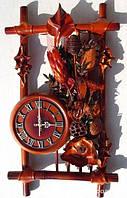 Часы из натуральной кожи и бамбука- Рамка сухоцвет GP - ЧК13