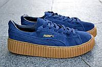 Замшевые женские кроссовки Пума