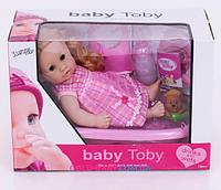 Пупс функциональный Baby Toby 30808 D2 с ванночкой