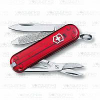 Нож Victorinox Сlassic SD 0.6223.Т, красный прозрачный, 7 функций.