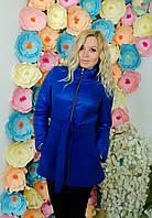 Пальто кашемировое синие