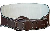Двухслойный атлетический пояс кожаный S Onhillsport коричневый