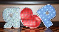 Объемные подушки-буквы