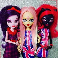 Набор Monster High Элизабет, Кетти Нуар и Вайперин (Elissabat, Viperine, Catty Noir) Монстры в Лондоне Монстер