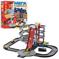 Игровой набор детская парковка 922-7, 4 этажа, 4 машинки, звуковые эффекты, в коробке 45х41х11 см
