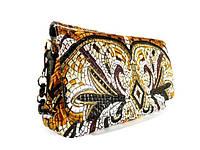 Вышитая женская сумочка, клатч Valensiy 68138 черная