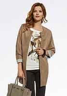 Женское пальто-кардиган бежевого цвета. Модель 220033 Enny, коллекция осень-зима 2016-2017.