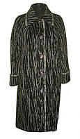 Длинное пальто из ворсовой ткани
