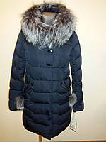 Куртка женская зимняя с мехом чернобурка 16-152