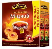 Чай Лисма Индийский Крепкий чёрный пакетированный 100шт 902748