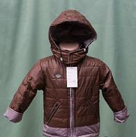 Модная детская куртка на байке для мальчика