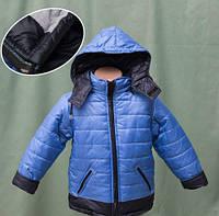 Симпатичная детская куртка на байке для мальчика