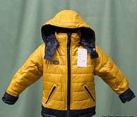 Яркая детская куртка на байке для мальчика