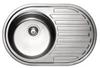Мойка круглая с полкой врезная 770x500х180 SATIN