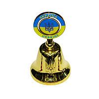 Колокольчик с изображением герба Украины.