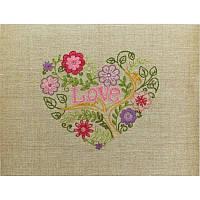 НКШ-4001 Цветочное сердце. Марічка. Набор для вышивания нитками (декоративные швы)