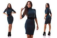Теплое платье с поясом ИК 1970-NW