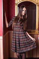 Платье с завышенной талией в клетку НЛ 0402-NW