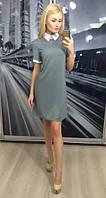 Женское офисное платье с воротником АБ 233-NW