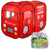 Игровая палатка детская Пожарная машина M 1401
