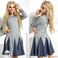 Стильное женское платье с клешёной юбкой