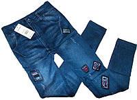 Лосины джинс очень теплые на махре модель ЛА16
