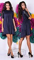 Платье трапеция с коротким рукавом ОА 261-NW