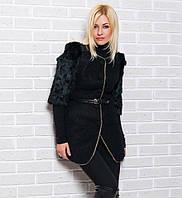 Модное женское пальто с мехом