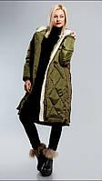 Зимнее пальто женское с мехом