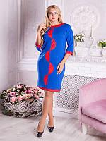 Платье женское с оригинальным узором №1690